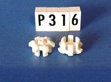 (P316) playmobil piéce vehicule paire d'enjoliveurs blancs