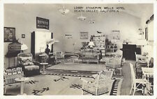 Death Valley, California - REAL PHOTO Interior Stovepipe Wells Hotel - Inyo Co.