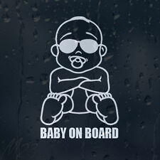 Baby Sunglasses On Board Decal Vinyl Sticker For Bumper Window Panel