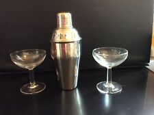 French Vintage Champagne Glasses And Cocktail Shaker #1