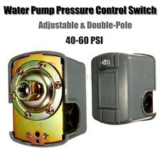 Water Pump Pressure Control Switch Adjustable Double Spring Pole 40-60 PSI