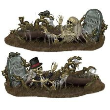 5ft DOOMED BRIDE & GROOM HALLOWEEN PROP SCENE SETTER WALL DECOR TOMBSTONE ZOMBIE