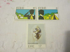 IRELAND 1977 MINT N H 2 SETS OF 3 STAMPS SG 408-410 ART/SCOUTS    345J