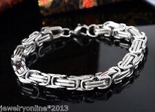1 Antik Silber Massiv Edelstahl Herren Mode Armkette Armband Königskette 22cm
