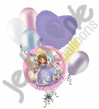 7 pc Disney Sofia the First Balloon Bouquet Happy Birthday Party Decoration