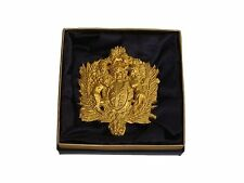 Exclusive Elegant Stylish Gold Plated Vermeil English Coat of Arms Brooch Pin