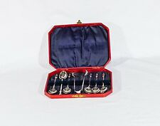 Vintage EP-NS coffee tea set of 6 spoons and 1 sugar tongs bishop priest design