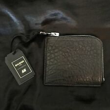 NWT SOLD OUT BALMAIN FOR H&M NWT MEN'S LEATHER TEXTURED WALLET