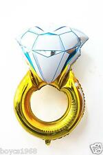 Diamond wedding engagement ring foil balloon bridal shower hen party