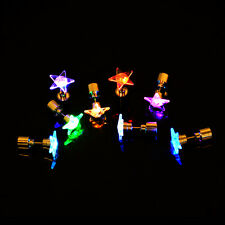 8 Pairs Light Up LED Bling Earrings Blinking Ear Studs Dance Party Accessories