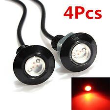 4x 3W LED Eagle Eye Red Light Daytime Running DRL Tail Backup Light Car 12V
