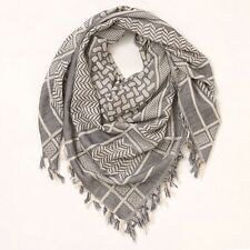Anthropologie CHEVRON DENIM Navy Blue SQUARE Fringe SCARF New