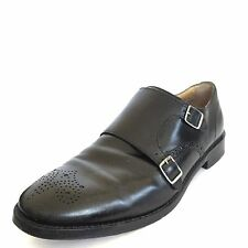 Cole Haan Mens Black Leather Cambridge Double Monk Strap Oxford Shoes Size 8.5 M