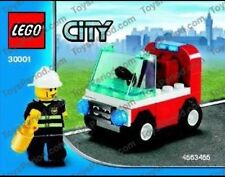 Official Lego CITY  30001 - FIREMAN'S CAR SET - Genuine Poly Bag NEW SEALED