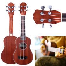 "New 21"" UK-203 Soprano Ukulele Hawaiian Guitar 4-String Instrument Sapele Wood"