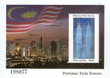 Malaysia KLCC Twin Towers MS stamp
