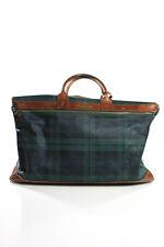 Vintage Ralph Lauren Blue Green Blackwatch Plaid Weekender Luggage Bag