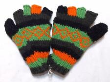 FAIR TRADE WOOL BOHO ETHNIC HIPPY FESTIVAL RAINBOW TUBE GLOVES / MITTENS