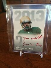 2013 Press Pass Silver Base Red Ink Inscription Auto Terrance Williams Cowboys