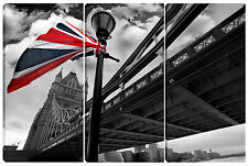 Quadro moderno londra tower bridge UNION JACK - LONDON 3pz 60x90 testata letto