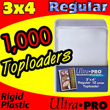 1000 ULTRA PRO REGULAR 3X4 TOPLOADERS MAGIC THE GATHERING CARD HOLDER 81222-1000
