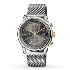 CITIZEN CA0336-52H Eco-Drive Tachymeter Chronograph Mesh Bracelet Men's Watch
