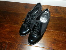 Bandolino Christana Size 8 Womens Black Ankle Boots Heels Shoes Patent leather