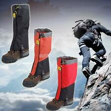 Pair of Waterproof Climbing Riding Leg Cover Boot Gaiters Warmer Protector Black