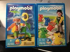 PLAYMOBIL #4238 RETIRED CLOWN with working flower spray Rare 2006 Age 4+ FREE SH