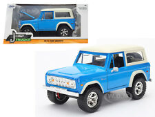 1973 FORD BRONCO BLUE 1/24 DIECAST MODEL CAR BY JADA 98278