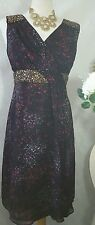 Monsoon Party, Cruise, Prom, Cocktail Dress Size 16 With Sequins