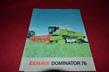 Claas Dominator 76 Combine Dealer's Brochure YABE8