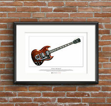 Mick Taylor's Gibson SG Limited Edition Fine Art Print A3 size