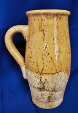 DISTRESSED GREEK STYLE TERRA COTTA POTTERY PITCHER VASE HEAVY PLANTER DECOR