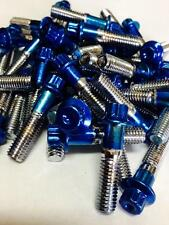 100Pcs  Custom Assembly 8mm Powder Coated Blue Bolts & Nuts For 2 And 3PC Wheels