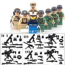 8 Pcs Military Mini Figures NEW UK Seller Fits Lego Pacific War Japan v US Navy