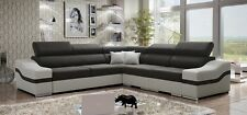 Arizonte corner sofa bed, left or right hand corner, faux leather or fabric