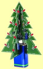3D Christmas Tree Electronic Kit with Blinking LEDs - Fun XMAS Soldering Project
