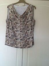 LADIES COWL NECK SLEEVELESS TOP SIZE 22 BY MARKS &SPENCER.