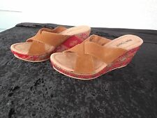 NEW WOMENS SIZE 9 MINNETONKA KYLIE SLIDE WEDGE SANDALS / PROMPT SHIPPING