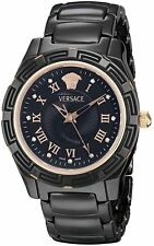 Versace Women's DV One 63QCP9D009 SC09 Black Ceramic Roman Numbers Diamond Watch