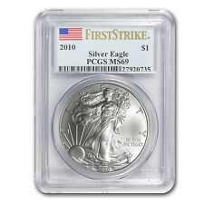 2010 1 oz Silver American Eagle Coin - MS-69 First Strike PCGS