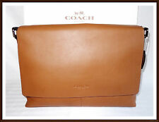 NWT NEW $450 Coach Leather Sullivan Briefcase Laptop Messenger Bag SADDLE BROWN