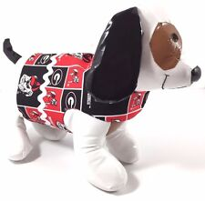 NWOT Dog Pet clothes harness SZ Small 4.5 to 6 LBS handmade College UGA BULLDOGS