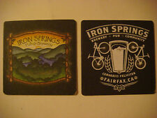 Beer Coaster ~  ~ IRON SPRINGS Brewery & Pub~ Fairfax, CALIFORNIA Bicycle & Hops