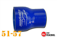 """4 Ply Silicone Straight Reducer Joiner Hose Pipe 51mm - 57mm 2"""" -2.25"""" 2-1/4"""" BL"""