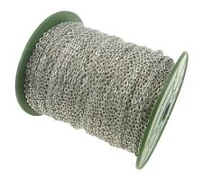 Cable Chain Spool - 330 Feet - Platinum Antique Silver - 3x4mm Link - 100 Meters