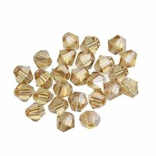 100x  Loose Glass Crystal Bicone  AB Spacer Beads For Jewelry Making DIY 4MM