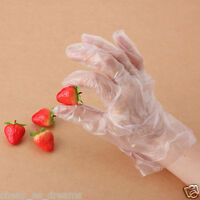 100 X DISPOSABLE PLASTIC POLYTHENE CLEAR GLOVES FOOD CLEANING DECORATING CAR