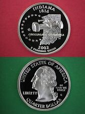 2002-S Indiana Proof Deep Cameo State Quarter Flat Rate Shipping